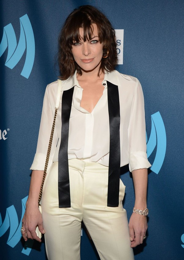 Milla Jovovich At 24th Annual GLAAD Media Awards in New York
