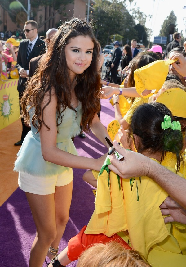 Selena Gomez at Nickelodeon's 26th Annual Kids' Choice Awards in Los Angeles