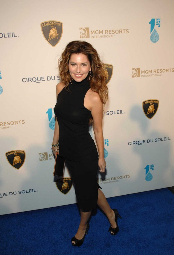 Shania Twain at One Night for One Drop event in Las Vegas on March 22, 2013