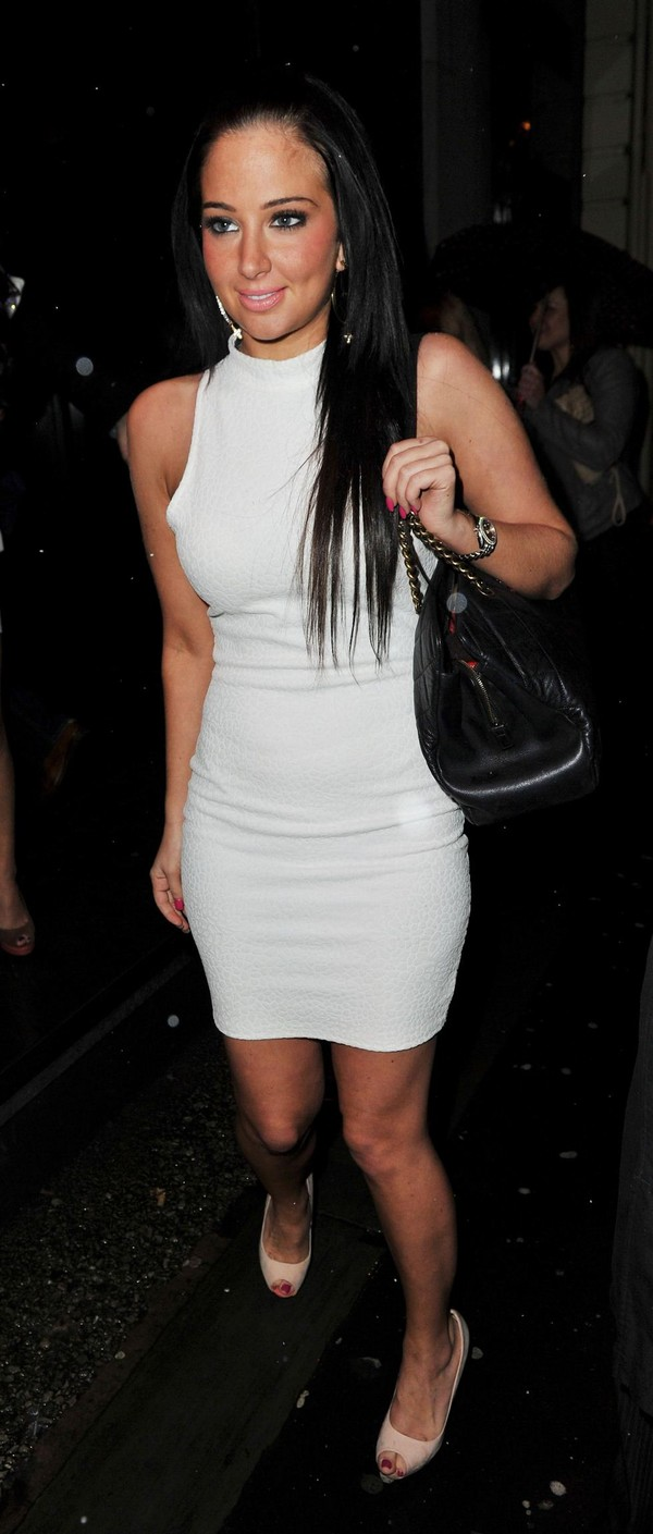Tulisa Contostavlos leaving the Goucho restaurant in Manchester on March 16, 2013