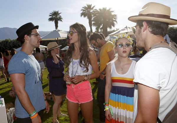 Alessandra Ambrosio at Lacoste L!VE Coachella 4th Annual Desert Pool Party in Palm Springs on April 13, 2013