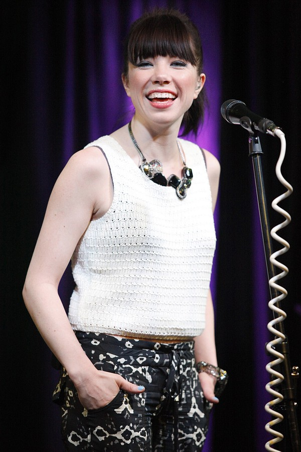 Carly Rae Jepsen at the Q102 Performance Theatre in Pennsylvania on April 5, 2013
