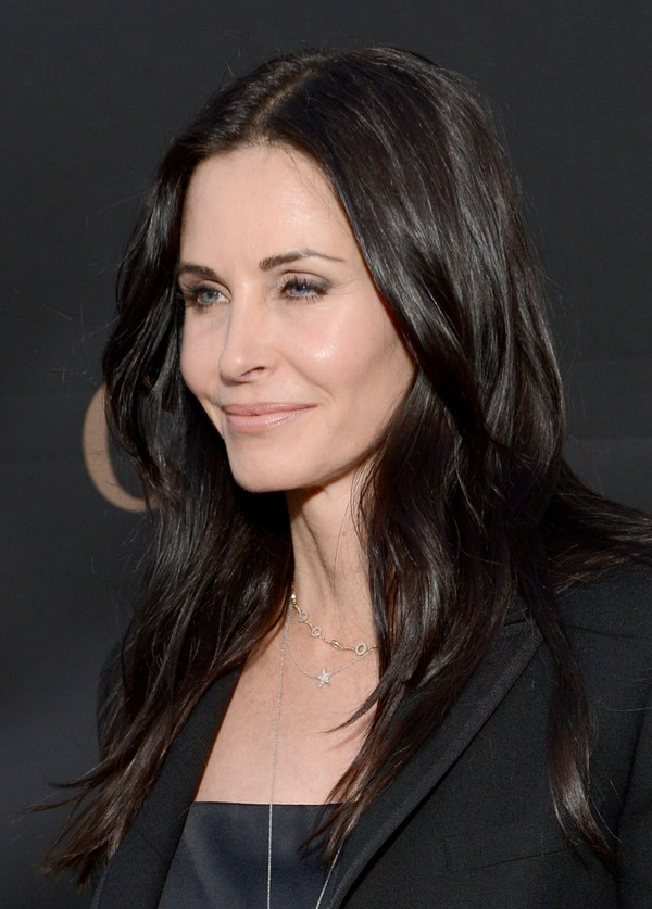 Courteney Cox attends the L.A. Modernism Show & Sale at Barker Hangar in Santa Monica on April 25, 2013