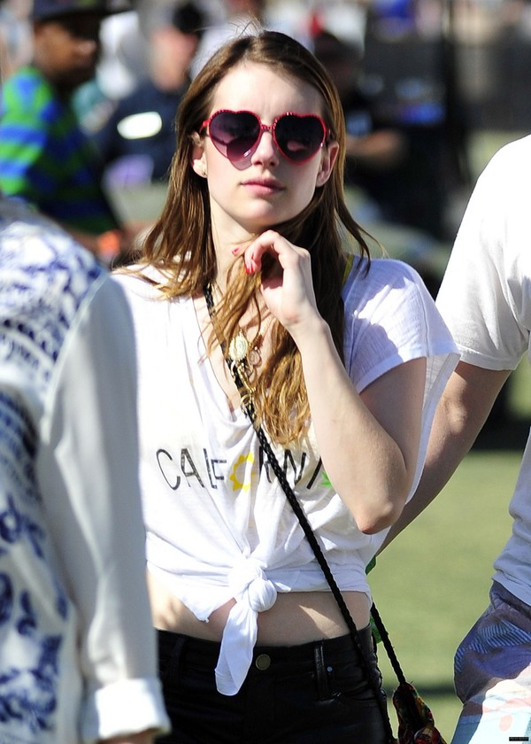 Emma Roberts at Coachella Valley Festival, Day 2 in Indio, California on April 13, 2013