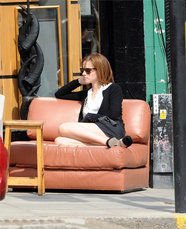 Emma Watson out and about in London on April 27, 2013