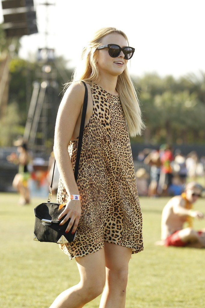 Francesca Eastwood at Coachella Valley Festival, Day 2 in Indio, California on April 14, 2013