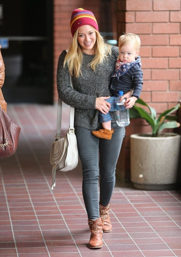 Hilary Duff at a Babies to Babies Class in Sherman Oaks on April 24, 2013