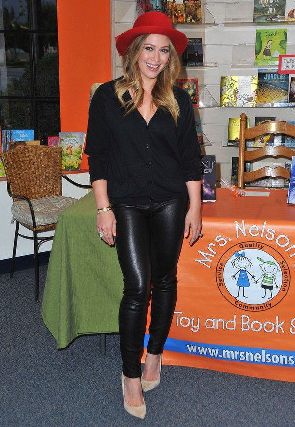 Hilary Duff promoting her New Book 'True' at Mrs. Nelson's Toy & Book Shop in La Verne on April 16, 2013