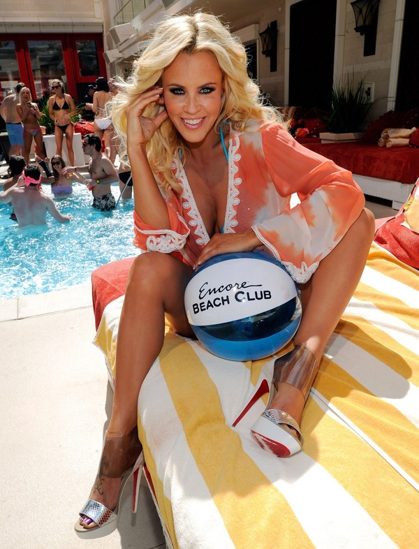Jenny McCarthy at Encore Beach Club in Las Vegas on March 30, 2013