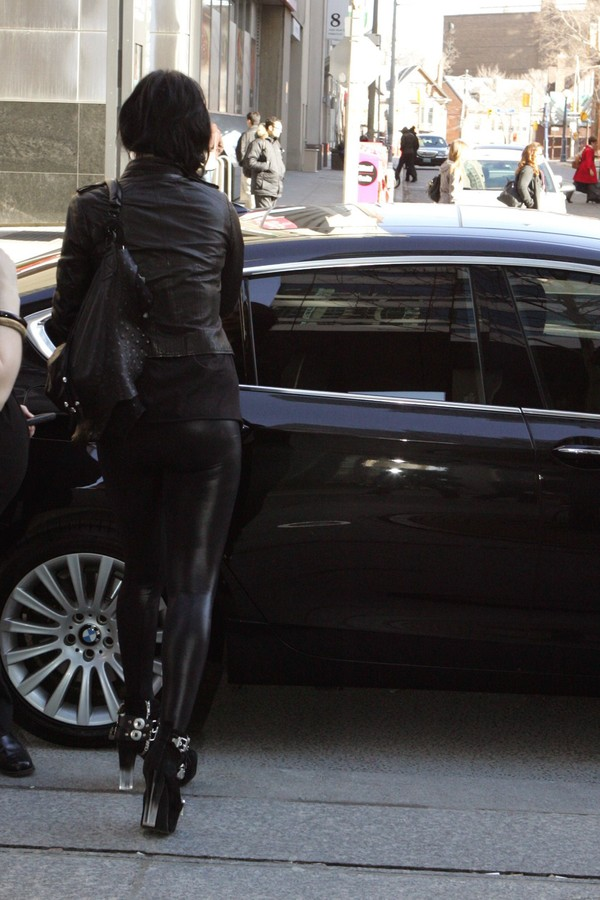Kat Von D arriving at Global News Toronto for her appearance on The Morning Show on April 22, 2013