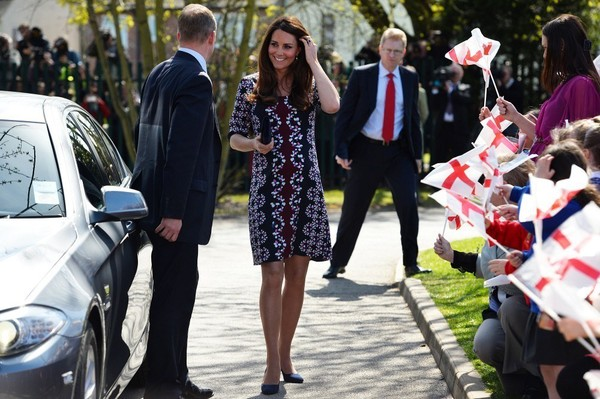 Kate Middleton visits a Primary School in Manchester (United) on April 23, 2013