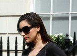 Kelly Brook leaving her home in London on April 25, 2013