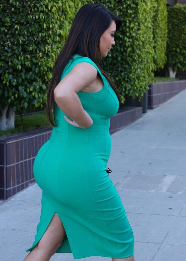 Kim Kardashian at a Studio in Los Angeles on April 18, 2013