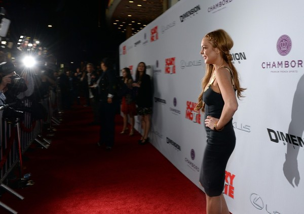 Lindsay Lohan at 'Scary Movie 5' Premiere in Hollywood on April 11, 2013