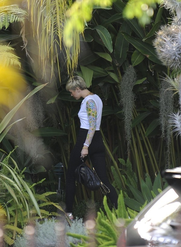 Miley Cyrus at a Studio in Hollywood on April 24, 2013