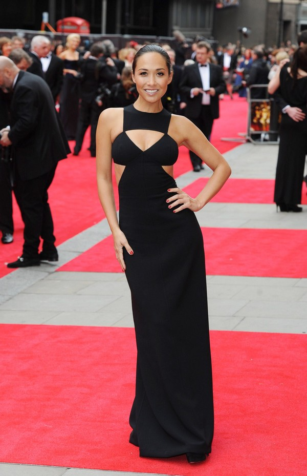 Myleene Klass at The Olivier Awards 2013 in London on April 28, 2013