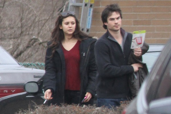 Nina Dobrev Out and About Outside her home in Toronto on March 31, 2013