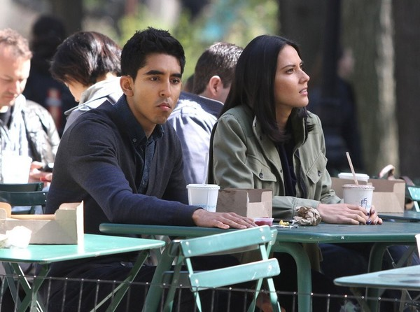 Olivia Munn On the Sets of 'The Newsroom' in NYC on April 24, 2013
