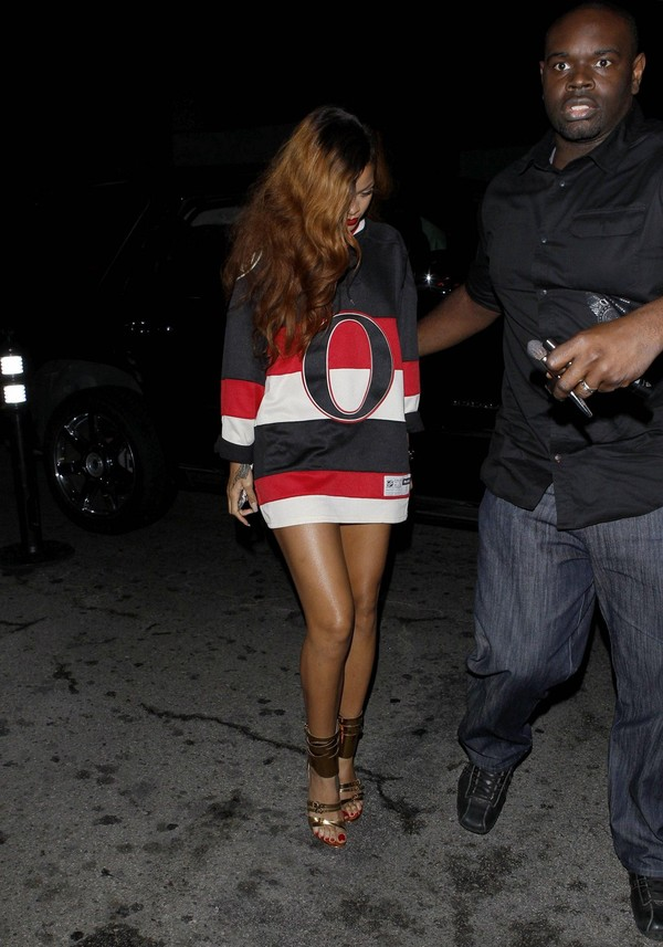 Rihanna at Greystone Manor Night Club in Los Angeles on April 7, 2013