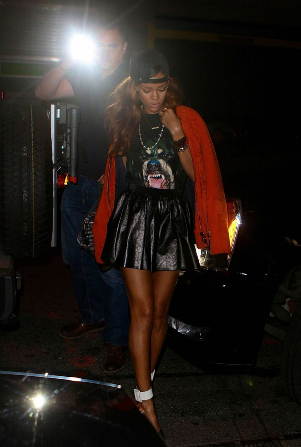 Rihanna outside the Greenhouse Club in New York on April 23, 2013