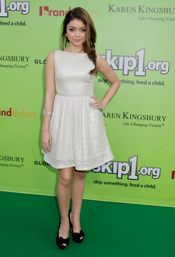 Sarah Hyland attending the 'Skip And Donate' Gala Event at The Lot in West Hollywood on April 6, 2013