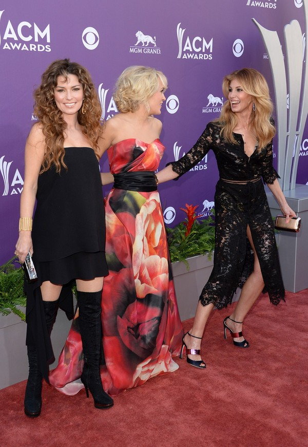 Shania Twain at 48th Annual Academy of Country Music Awards in Las Vegas on April 7, 2013