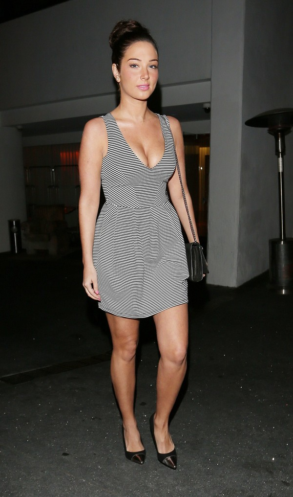 Tulisa Contostavlos at Boa Steak House in Bevery Hills on April 1, 2013