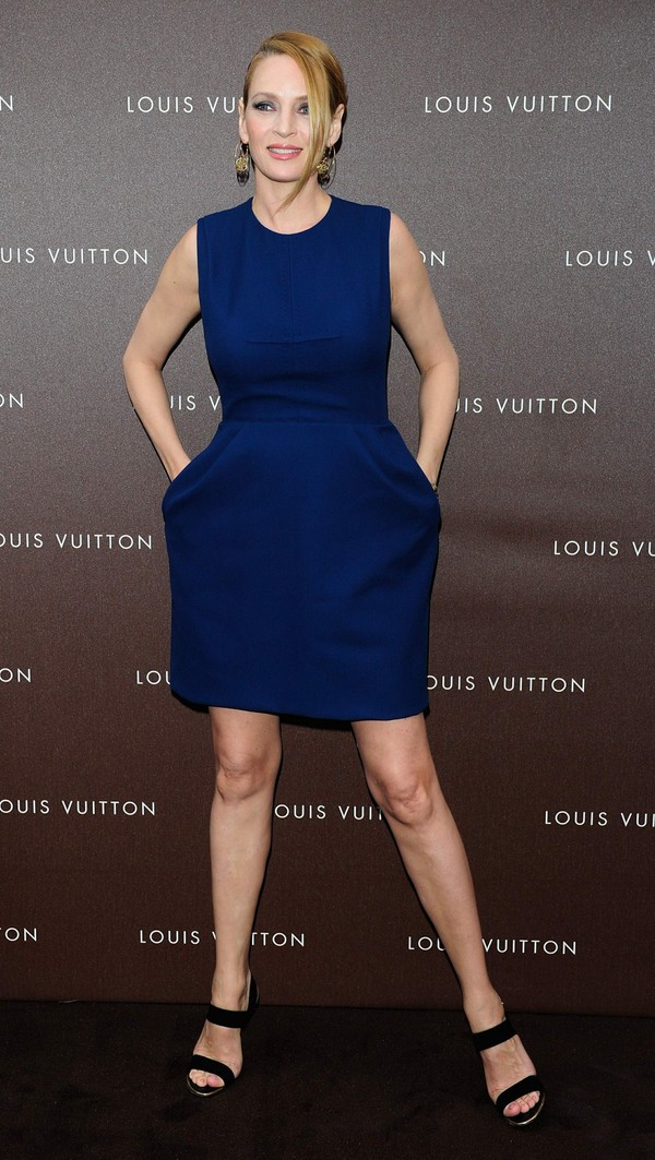 Uma Thurman at Louis Vuitton Maison Opening in Munich, Germany on April 23, 2013