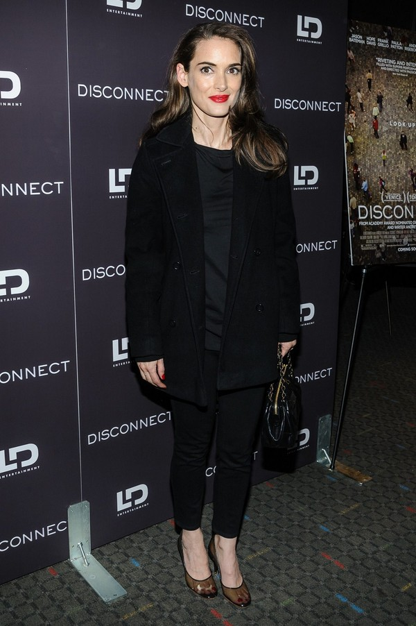 Winona Ryder at 'Disconnect' Screening in New York City