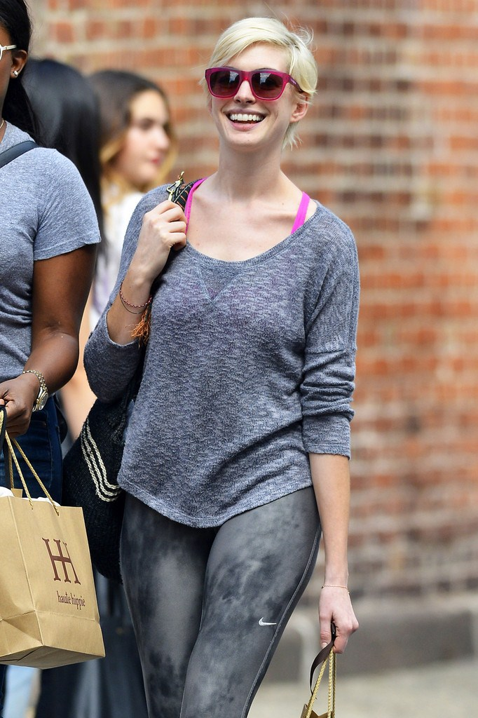 Anne Hathaway out and about in Soho on May 20, 2013