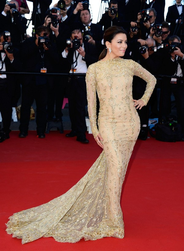 Eva Longoria attends the Premiere of 'Le Passe' at Cannes Film Festival on May 17, 2013