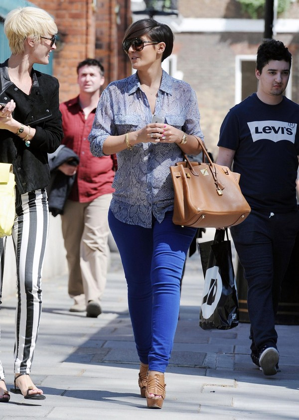 Frankie Sandford out and about in London on May 3, 2013
