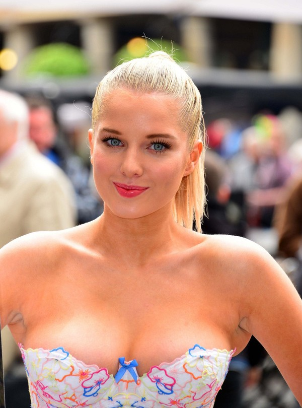 Helen Flanagan Looks Stunning promoting PETA's Anti-Exotic Skins Ad at Covent Garden in London on May 23, 2013