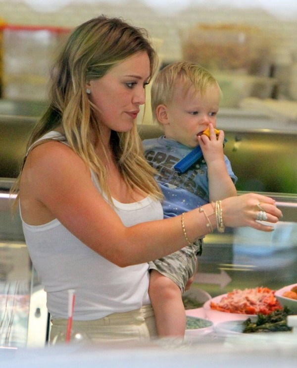 Hilary Duff with Son Luca, out for Lunch in West Hollywood on May 29, 2013