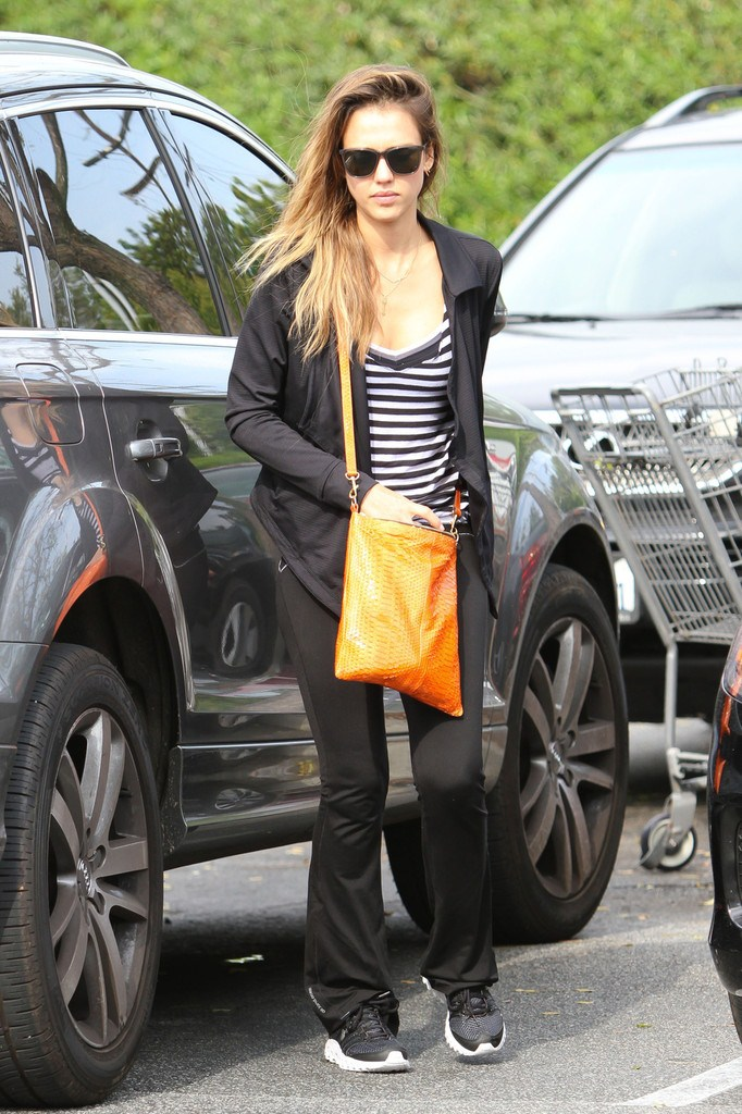 Jessica Alba at Whole Foods market in West Hollywood on May 16, 2013