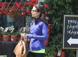 Jordana Brewster in Black Spandex, stops by Pavilions in West Hollywood on May 27, 2013