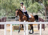 Kaley Cuoco riding her horse in Simi Valley on May 10, 2013