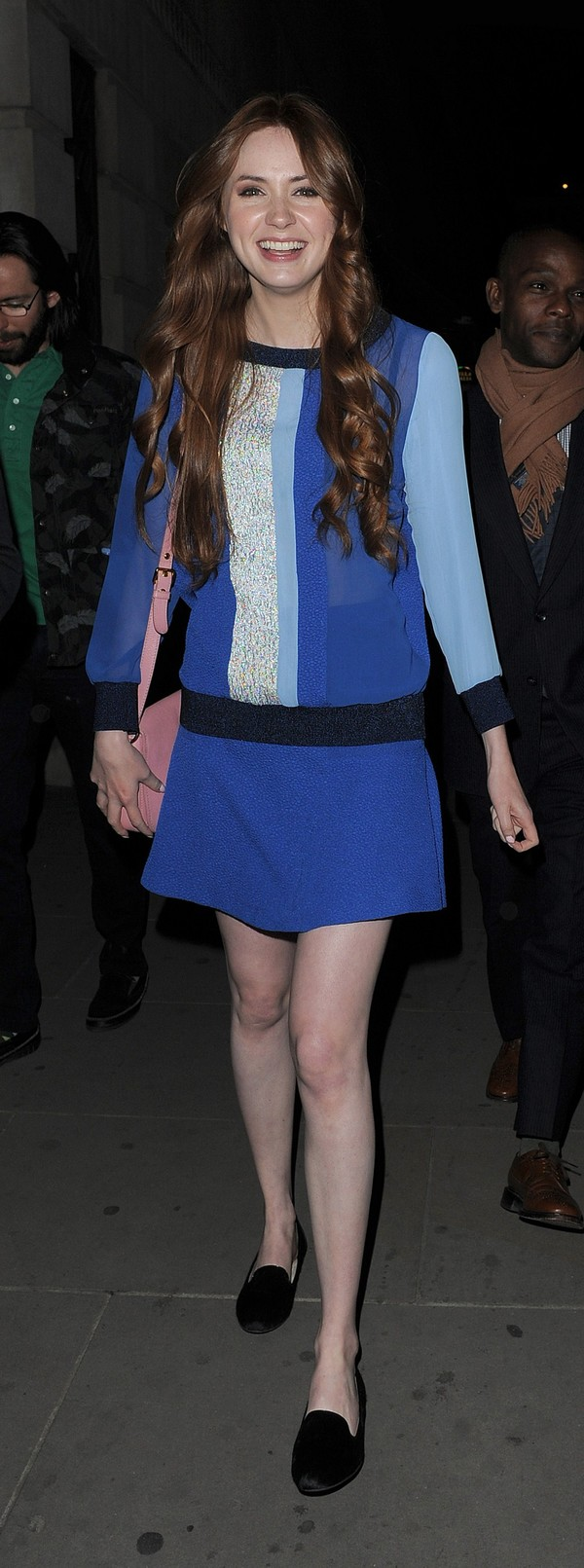 Karen Gillan at Aqua Nueva Restaurant in London on May 3, 2013