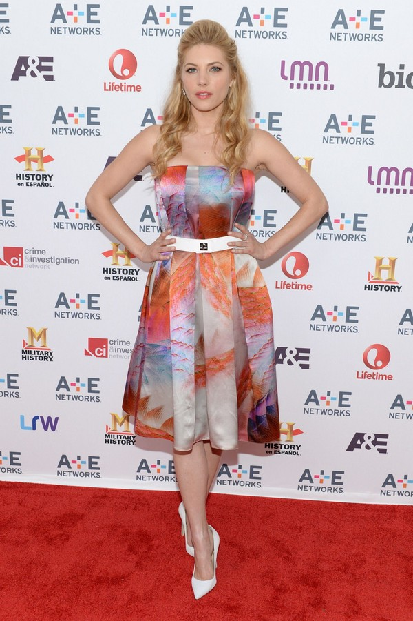 Katheryn Winnick at A+E Networks 2013 Upfront in New York on May 8, 2013