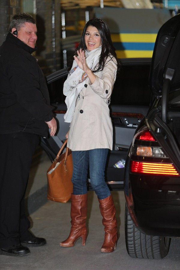 Natalie Anderson arriving at ITV Studios on May 13, 2013