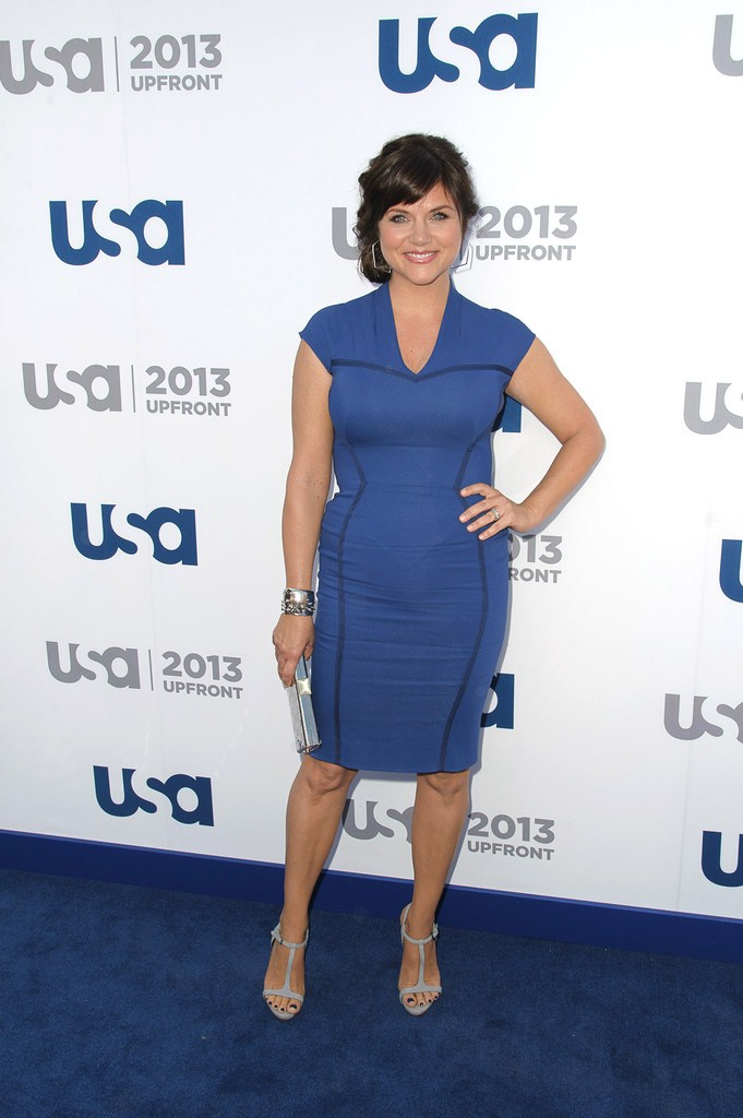 Tiffani Thiessen at USA Network 2013 Upfront in NYC on May 16, 2013