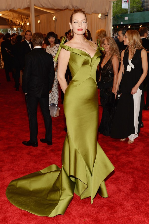 Uma Thurman at 2013 Met Gala at the Metropolitan Museum of Art in NYC on May 6, 2013