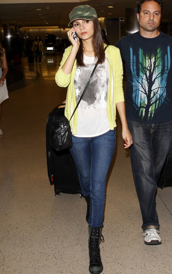 Victoria Justice in Jeans, at LAX on May 15, 2013