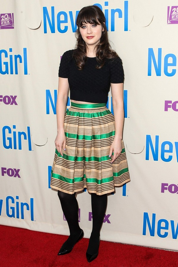 Zooey Deschanel at Special Screening and Q&A of FOX's 'New Girl' at Leonard H. Goldenson Theatre on April 30, 2013