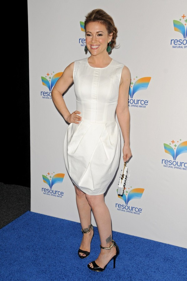 Alyssa Milano at Natural Spring Water Resource Launch Event in NYC on June 6, 2013