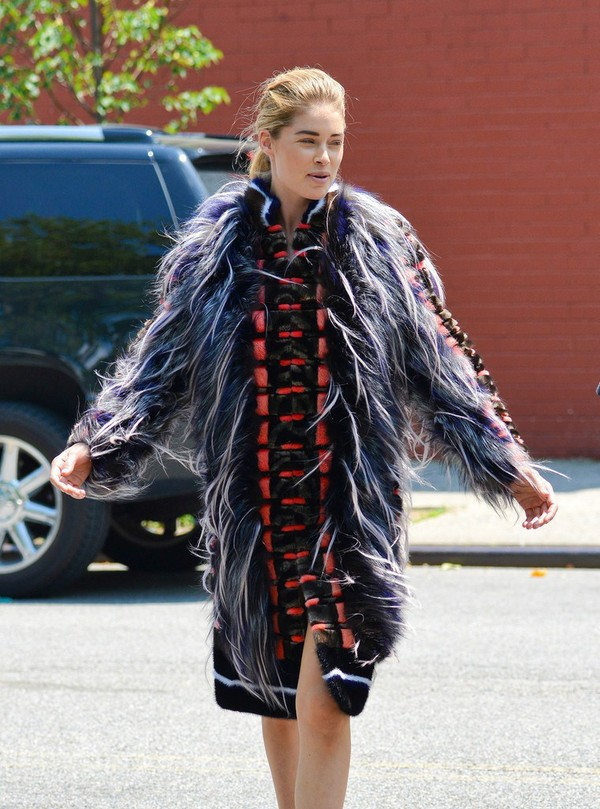 Doutzen Kroes On the Sets of a Photo Shoot in NY on June 17, 2013